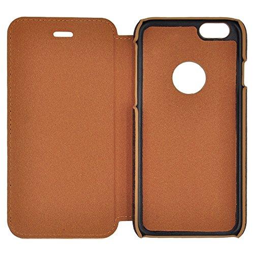 Phone case & Hülle Für IPhone 6 / 6s, Retro Art-hölzernes Korn, das ledernen Kasten mit Halterung näht ( Color : Wind Red ) Grey
