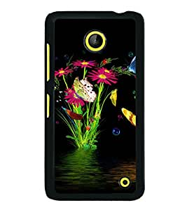 printtech Water Flowers Back Case Cover for Nokia Lumia 630