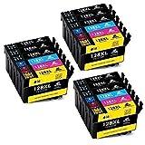 IKONG Kompatibel für Druckerpatrone Epson T1281 T1282 T1283 T1284, Hohe Ausbeute, 18 Packungen, Arbeiten mit Epson Stylus SX235W SX230 SX125 S22 SX130 SX420W SX425W SX430W BX305FW BX305F Drucker