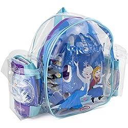 Disney Frozen - Bolsa con casco, rodilla y codo pads (D'Arpèje OFRO004) para niña