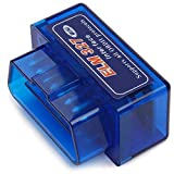 Bosmutus OBD2 Super Mini BT ELM327 V2.1 Bluetooth OBD2 Scanner Tool Car Scan Auto Adapter Check Engine Diagnostic Tool for Android Torque/PC