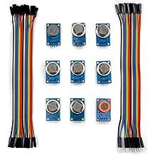 For arduino Kuman K24 sensor module kits MQ2 MQ3 MQ4 MQ5 MQ6 MQ7 MQ8 MQ9 MQ135 kit Diy for Arduino with jumper wires cables