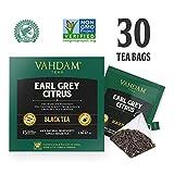 VAHDAM, Earl Grey Tee (30 Teebeutel) | Schwarzer Tee Teebeute l Aromatisch & Köstlich, Schwarzer Tee gemischt mit Natürlichem Öl der Bergamotte | Gemischt & aus Indien Geliefert | Brühen als Heißen Tee oder Eistee | 15 Schwarztee Teebeutel (2er Pack)