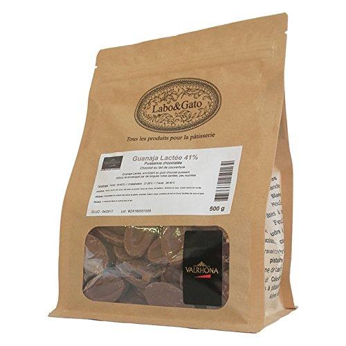 Valrhona - Guanaja Lactée 41% chocolat au lait de couverture Mariage de Grands Crus fèves 500 g