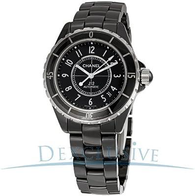 Chanel J12H0685Unisex blanco de goma cerámica funda automático FECHA reloj