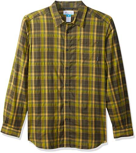 Columbia Herren Vapor Ridge III Big & Tall Long Sleeve Shirt Hemd, Python Green Plaid, 2X - Big-tall-hemden