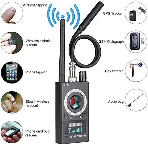 JUMOWA RF Insekten-Detektor, Anti-Spionage-Signal-Detektor-Set, Insekten-GP-Kamera Signal-Detektor Anti-Spion-Kamera Sweeper GPS Audio Spy Scanner Radio Wireless Signal Elektronischer Tracker Detektor Radio
