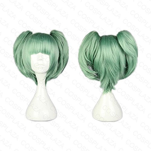 cosplaza-kaede-kayano-assassination-classroom-short-green-clip-on-pony-anime-cosplay-wigs