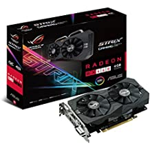 Asus STRIX-RX460-O4G-GAMING - Tarjeta gráfica (Strix, 4 GB, AMD Radeon RX 460, GDDR5, PCI Express 3.0, 8000 MHz, resolución de 7680 x 4320)