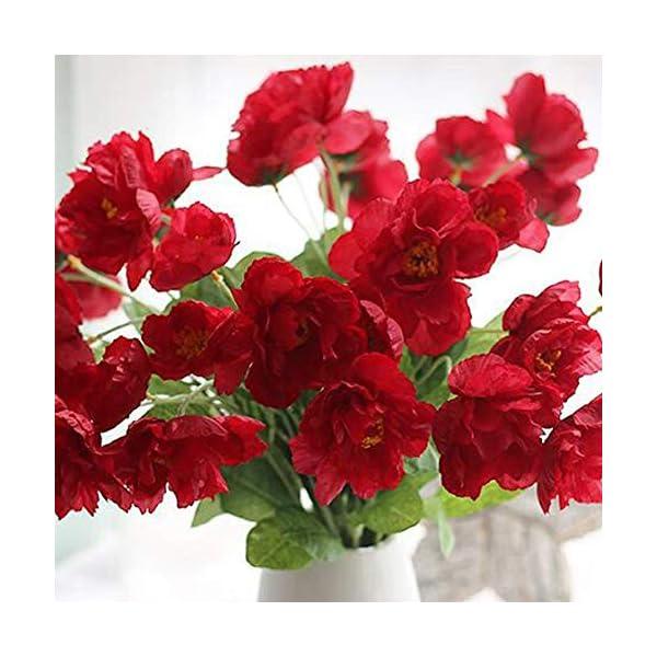 Ogquaton Amapola Artificial Amapola Realista Interior Colgante Jardinera Hogar Jardín Decoración Real Touch Flores…