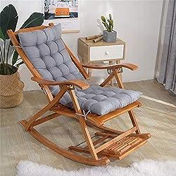 XFXDBT Coussin De Chaise Longue Soutien du Haut du Dos,épais Extra Large Coussin De Fauteuil Relax Coussin Bain De Soleil Rocking Chair Coussin Jardin Coussin-Gris 40x110cm