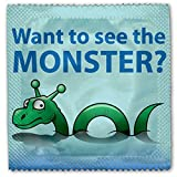 4x Loch Ness Monster Funny Novelty Condom Condoms -- For Hen Parties / Do, Stag Nights, Birthday Gifts, Parties, Icebreakers etc --- Fully CERTIFED AND SAFE CE FDA SABS ISO approved