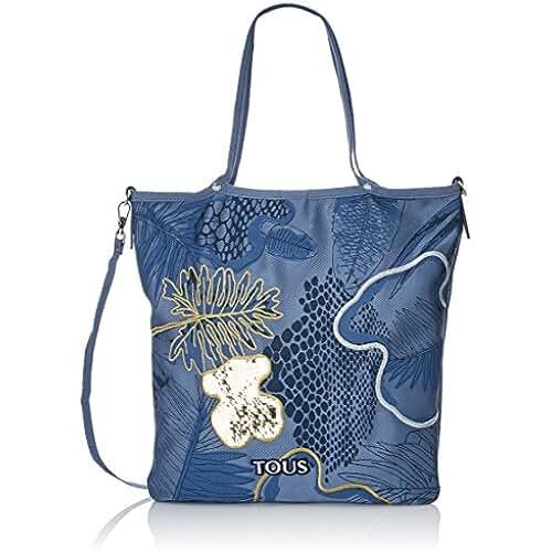 bolsos para el dia de la madre TOUS Kaos Shock, Shopper para Mujer, Azul (Jeans), 5x42x37 cm (W x H x L)