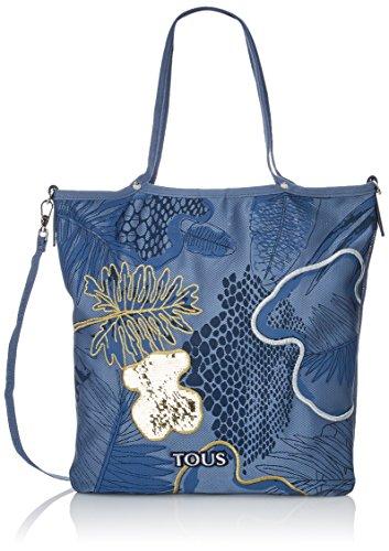 TOUS Shopping Jodie Rialto, Shopper y Bolso de Hombro para Mujer, Azul...