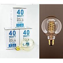 PureLume Vintage grande luce lampadina filamento di
