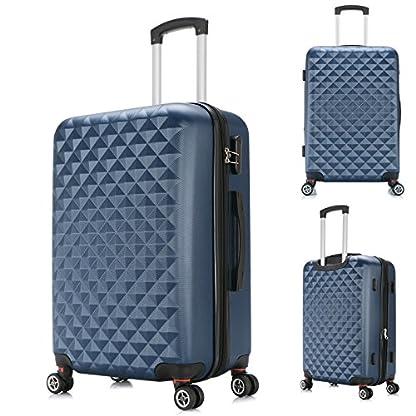 WOLTU-703-Reise-Koffer-Trolley-Hartschale-mit-erweiterbare-Volumen-Reisekoffer-Hartschalenkoffer-4-Rollen-MLXLSet-leicht-und-gnstig-M-L-XL-3er-MLXLSet