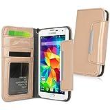 BoxWave Étui Samsung Galaxy S5Brevet d'embrayage en Cuir Cas–Premium Étui élégant Embrayage Brevet en Cuir Vegan pour Samsung Galaxy S5(Grès)