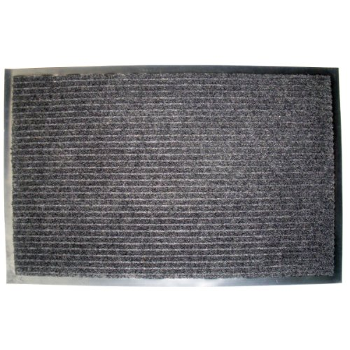 Felpudos Elegantes gris oscuro, 24-Inch by 36-Inch