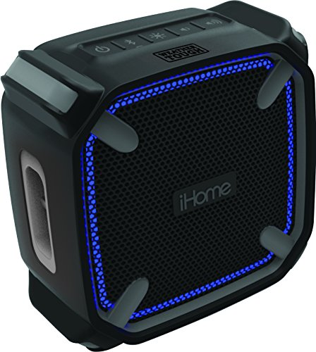 iHome iBT371 Rugged Color Changing Rechargeable Bluetooth Wireless Speaker  with Handsfree Speakerphone