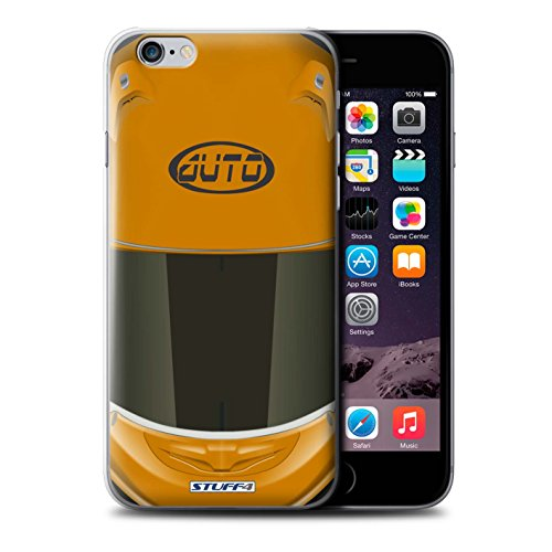 Stuff4 Hülle / Hülle für Apple iPhone 6S / Motocross/Grün Muster / Motorradhelm Kollektion Superbike/Orange