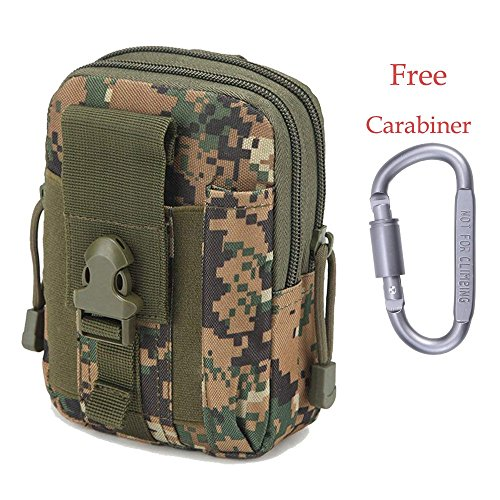 Marsupio tattico militare da cintura molle utility tactical pouch sport uomo impermeabile bag per attività all'aperto hiking campeggio ciclismo pesca (camuffamento)