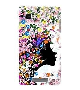 EPICCASE angel among flowers Mobile Back Case Cover For Lenovo Vibe Z K910 (Designer Case)