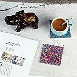 Design Untersetzer Set - Dekorative Keramik Untersetzer für Glas, Tassen, Vasen, Kerzen und Töpfe auf ihrem Esstisch - Premium Boho / Orientalisch Design (6 Tassenuntersetzer + 2 Vasenuntersetzer) - 6