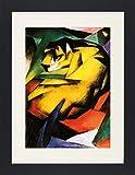 1art1 113448 Franz Marc - Tiger, 1912 Gerahmtes Poster Für Fans Und Sammler 40 x 30 cm