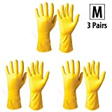 #10: HOKIPO® Flocklined Household Multi-Purpose Glove, Medium, 3 Pairs