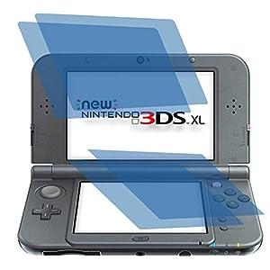 2 x Displayschutzfolie crystalclear von 4ProTec für Nintendo 3DS XL – Je 1 Folie für beide Displays
