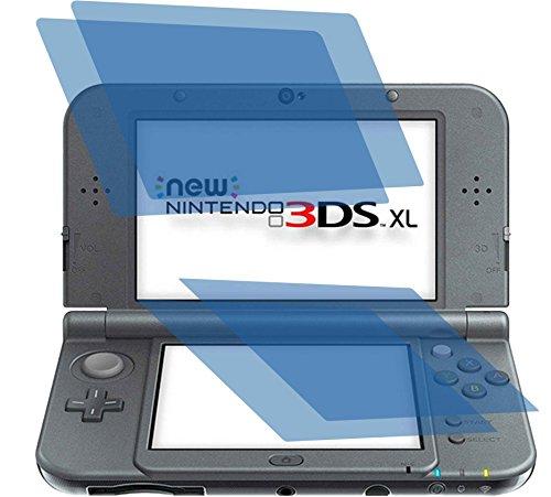 2 x Displayschutzfolie crystalclear von 4ProTec für Nintendo 3DS XL - Je 1 Folie für beide Displays