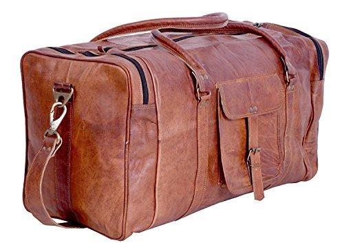 Handgefertigte Vintage-Reisetasche aus Leder, Reisetasche für Männer und Frauen, Sport- / und Gymnastiktasche