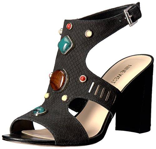 Nine West Chervil Leder Sandale Black