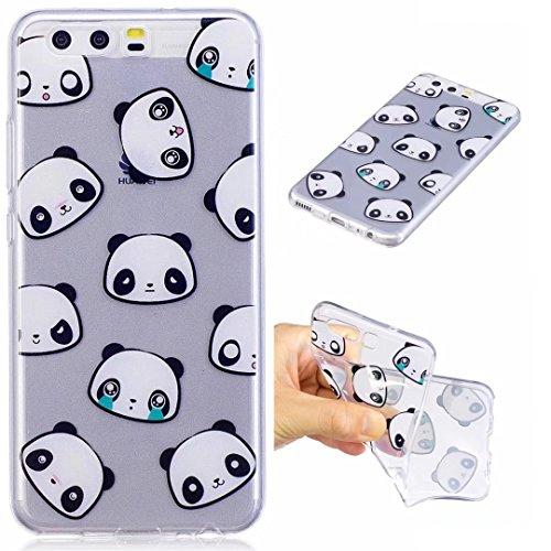 Cover iPhone 6 PLUS Silicone ultra trasparente sottile TPU morbido Custodia Modello di arte cover-panda Orso faccia