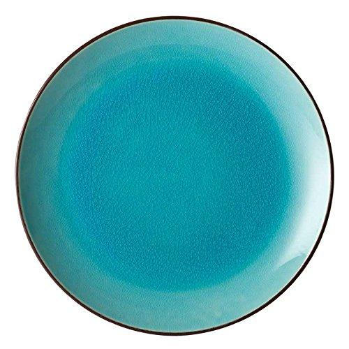 farbige teller UTOPIA SOHO, k90037, aqua Coupe Teller 25,4cm (25cm) (6er Box)