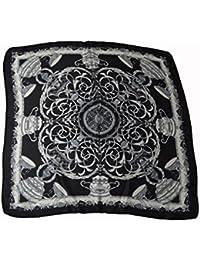Luxury soft square Geometric motive printed Neck scarf