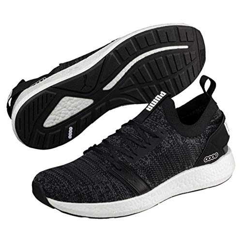 Puma Herren NRGY Neko Engineer Knit Laufschuhe, Schwarz Black-Iron Gate, 46 EU