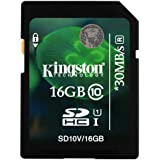 Kingston 16GB SDHC Class 10 Memory Card For Canon Ixus 265 HS
