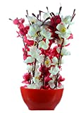 #5: JaipurCrafts Premium Forever Collection Artificial Flowers with Pot