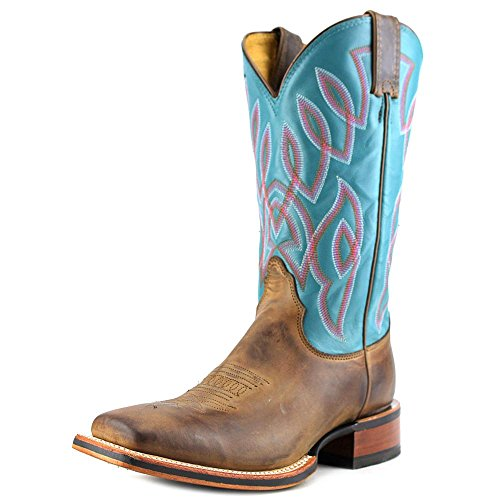 "Nocona 11"" Let's Rodeo Cuir Santiags jewel blue"