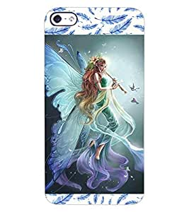 ColourCraft Beautiful Angel Design Back Case Cover for APPLE IPHONE 4
