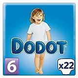 Dodot - Pañal Extra Seco, Talla 6, 17-28 Kg - 18 + 4 pañales
