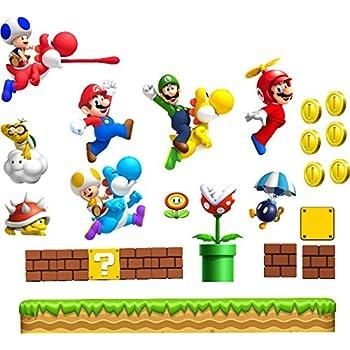Large Super Mario Wall Sticker Boys Bedroom Wall Art MARIO LUIGI YOSHI Super  Mario World Chilrens Part 77
