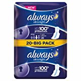 Always Ultra Night Sanitary Towels with Wings 1 g (Pack of 20)