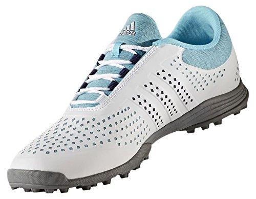 adidas W adipure Sport Golf Schuhe, Damen Blau, silberfarben,38 EU