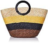 New Look Damen Malta Stripe Tote, Braun (Brown Pattern), 15x30x43 Centimeters