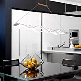 KLARS Lámpara colgante LED Moderna Lámpara de Techo, altura de la suspensión máximo de 120 cm, Ajustable DIY, lámpara colgante cocina mesa de comedor lámpara de techo de la cocina sala de estar lámpara de techo LED de aluminio Lámpara (blanco frío)