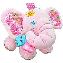 Singring Baby Pram Crib Activity Plush Animal Toy Stroller Clip on Toy
