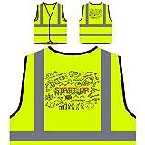 Éxito de inicio de negocios de finanzas Chaqueta de seguridad amarillo personalizado de alta visibilidad e326v