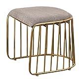 Y-YF Barhocker Industrieller Hocker Frühstücks-Hocker Goldener Esszimmerstuhl Designer-Freizeit Einzelsessel Barhocker Hochstuhl Kreativer Stuhl (Farbe : A)